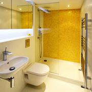 黄色调卫浴效果图片
