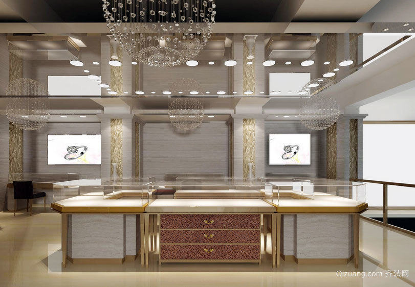 没钱也想多看两眼:创意珠宝展柜设计效果图鉴赏
