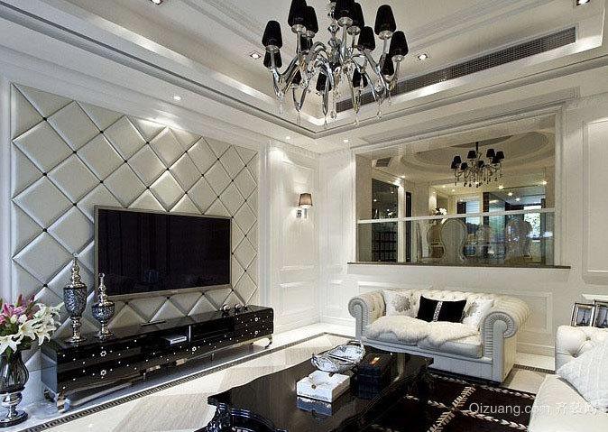奢而不俗的银色大户型跃层别墅装修效果图大全