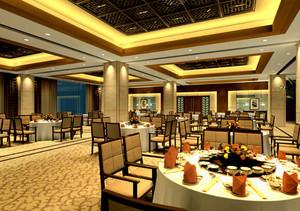 暖色调饭店设计