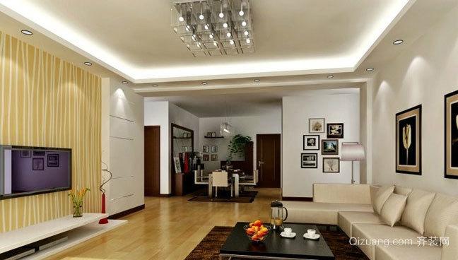 家的项链:光彩夺目客厅吊顶装修效果图
