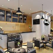 奶茶店吧台图片