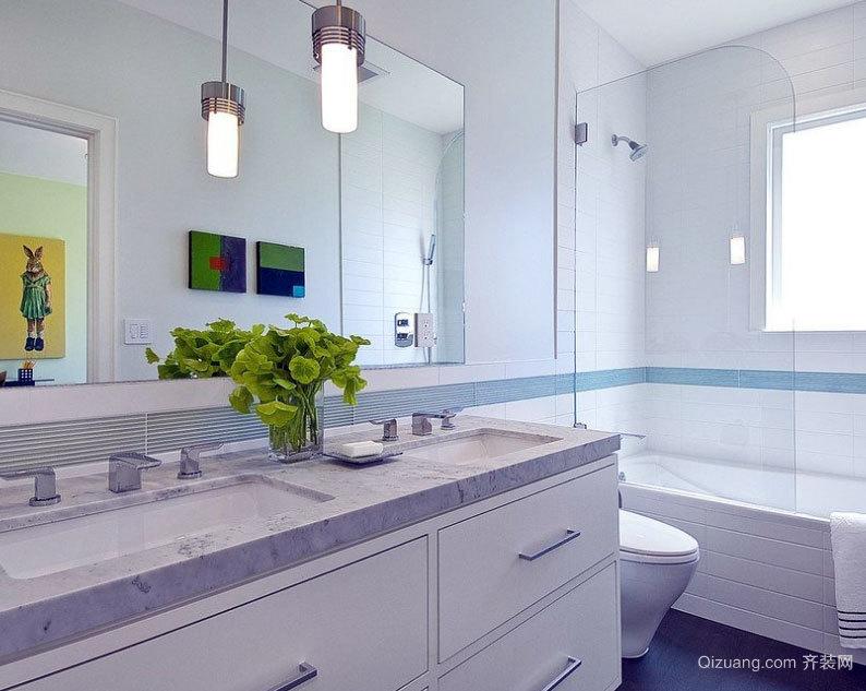 装修的典范:大户型欧式卫生间浴室装修效果图鉴赏