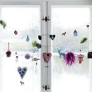 2015家居圣诞节主题窗户装修装饰设计效果图欣赏