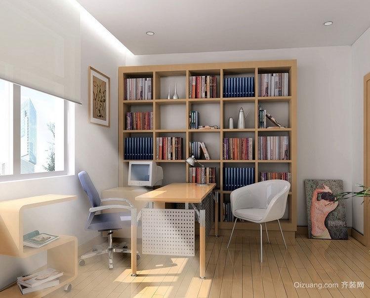 读书休息兼备:舒适精美小书房装修效果图鉴赏