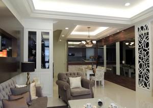 浓淡有致:清新淡雅120平米跃层式住宅装修效果图