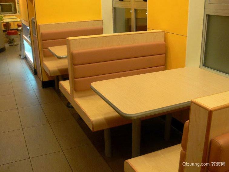 现代简约风格快餐家具卡座沙发装修效果图