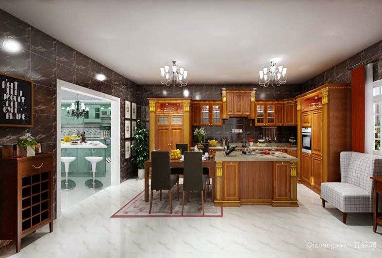 让人食欲大开:精美厨房吧台装修效果图鉴赏