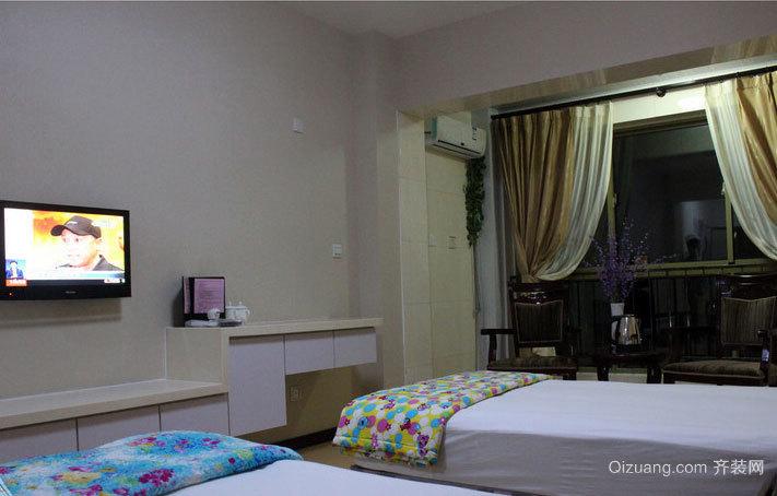50平米现代简约贴心多功能化的老年公寓卧室装修效果图