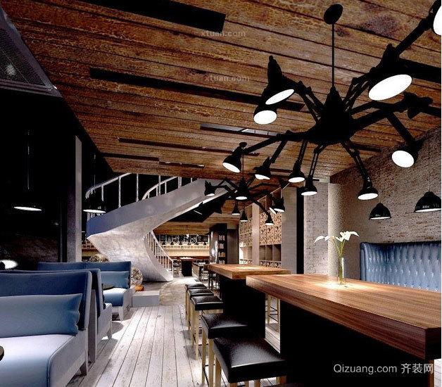 心中暖暖的爱意:都市咖啡厅设计装修效果图大全