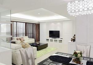 让你无可挑剔的简欧式风格三室两厅两卫家庭装修效果图