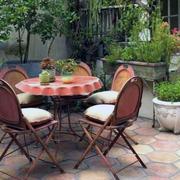 乡村庭院桌椅装修