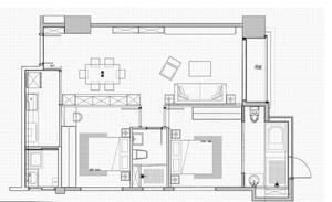 媲美精品商旅:精致小家50平米小户型装修设计效果图