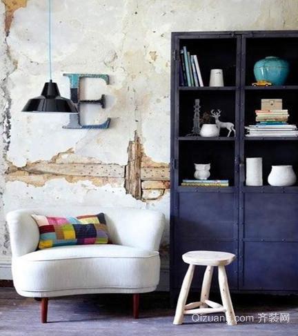 书房中角落里的书柜装修效果图
