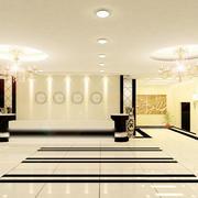 暖色调宾馆大厅设计