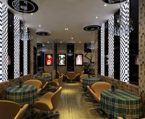 100平米大型现代香浓休闲咖啡厅装修效果图