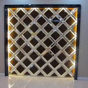 网格状玻璃背景墙