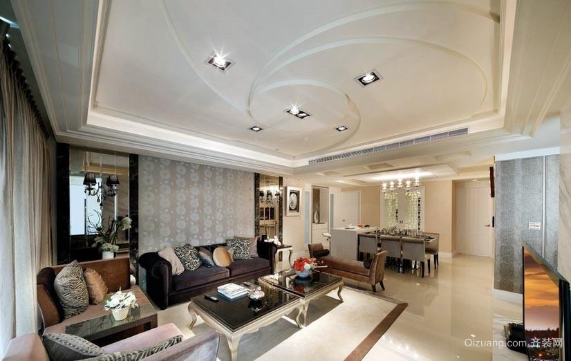 爱意浓浓的新古典120平米酒店式公寓装修效果图