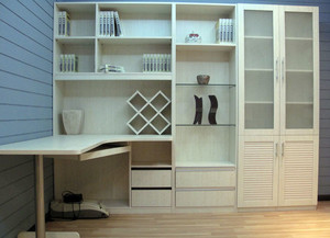 朴素型书柜装修图片