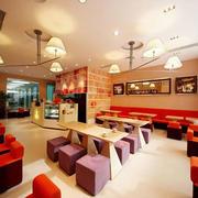 温馨色调咖啡厅设计