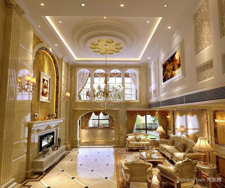 下班后轻松享受:完美欧式客厅吊顶装修效果图鉴赏