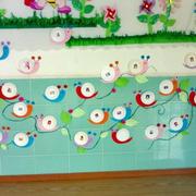 清新型幼儿园教室墙面