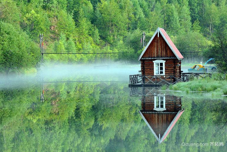 深山老林 纯手工制造小木屋图片装修效果图