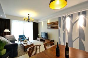 将单身进行到底:90平米惬意蓝色美式单身公寓设计