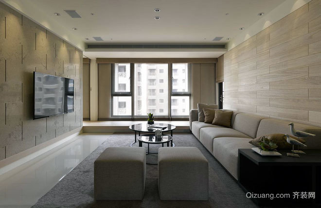 120平米度假饭店般天然优雅温馨公寓装修效果图