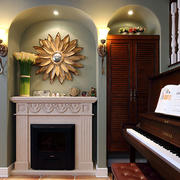 复式楼壁炉设计