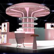 粉色调展示柜设计