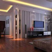 条纹型电视背景墙