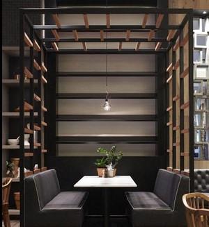 转角遇到爱:三岔路口咖啡厅装修效果图