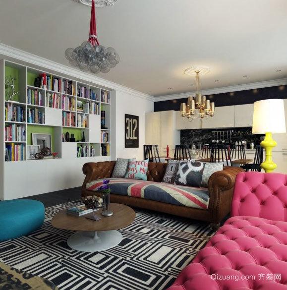 2015用色大胆强烈具有生命力的波普艺术家居装饰效果图