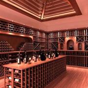 砖红色调酒窖