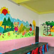 充满活力幼儿园教室墙面