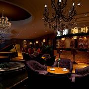 深色调咖啡厅设计
