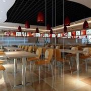 快餐店桌椅设计