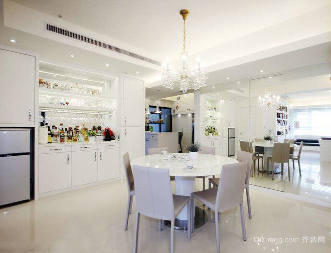 150平米以白色为主调历久弥新的白净居家别墅装修
