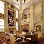 别墅客厅餐桌图片