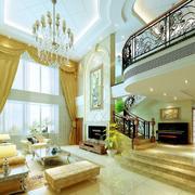 别墅客厅窗帘设计