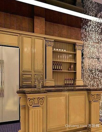 自由舒适的欧式精致吧台装修效果图