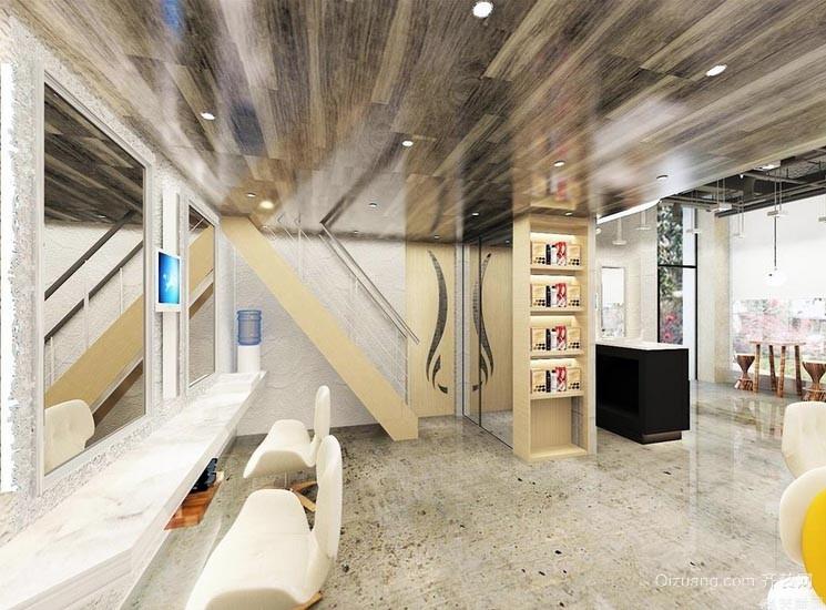 一切从头开始 创造时尚发廊室内装修设计效果图