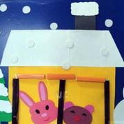 自然风格幼儿园教室墙面