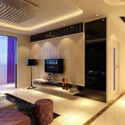 温馨色调电视背景墙
