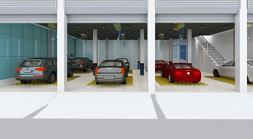 车 变一手车 洗车店 装修 效果图 装修高清图片