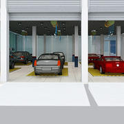 汽车美容店整体格局