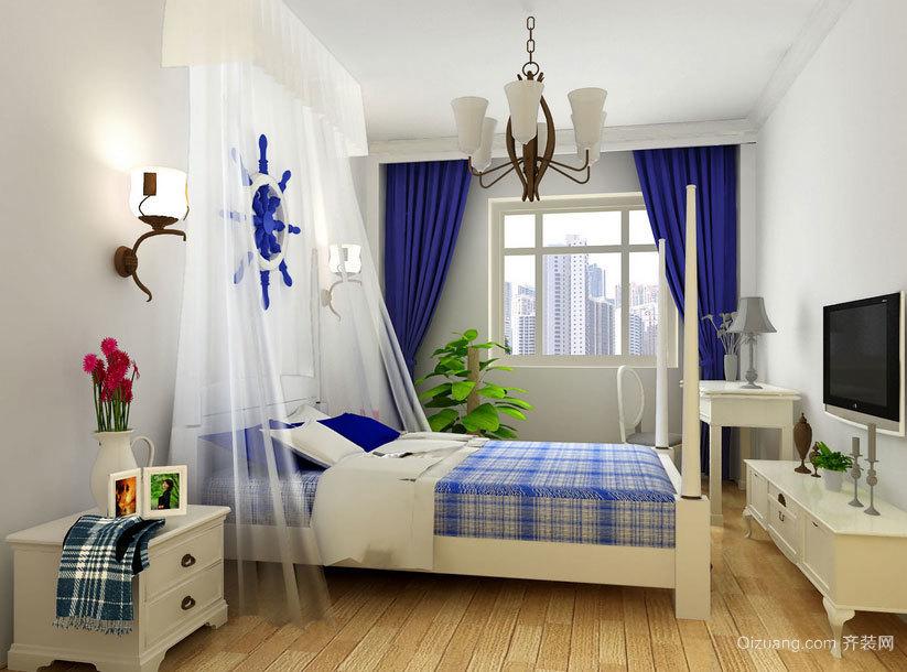 卧室中的天堂:地中海风格卧室背景墙装修效果图