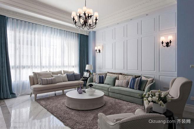 梦幻色彩 120平米法式清新风情优雅新古典别墅装修