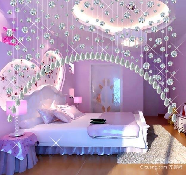 水晶门帘家居装饰设计效果图